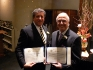 Honorees Martin Weissman and Jeffrey Ratner receiving citiations